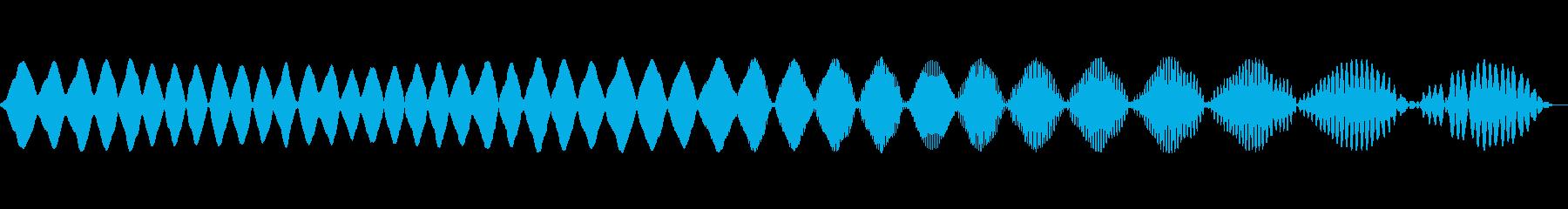電子パルス2の再生済みの波形