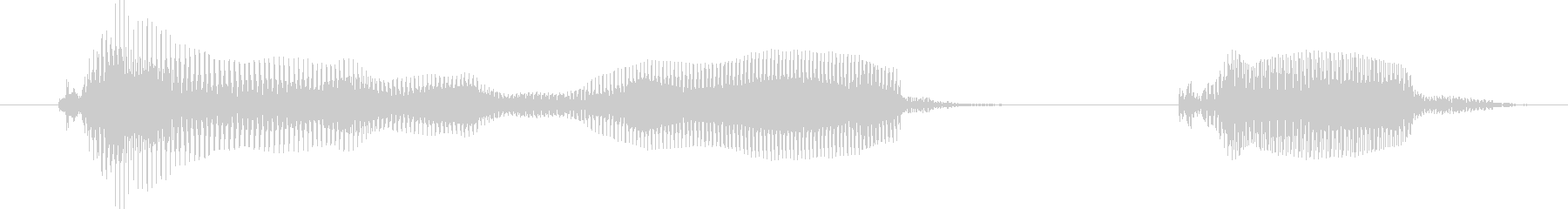 タイムアップ!-明るいトーンの未再生の波形