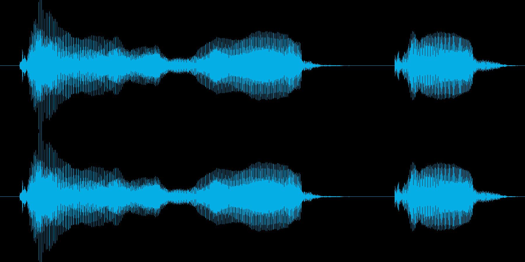 タイムアップ!-明るいトーンの再生済みの波形