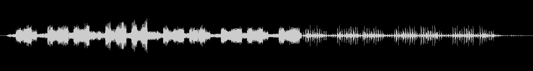 ノイズ 壊れたランダム性03の未再生の波形