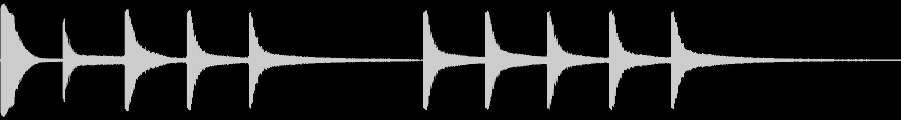 ベル教会リングの未再生の波形