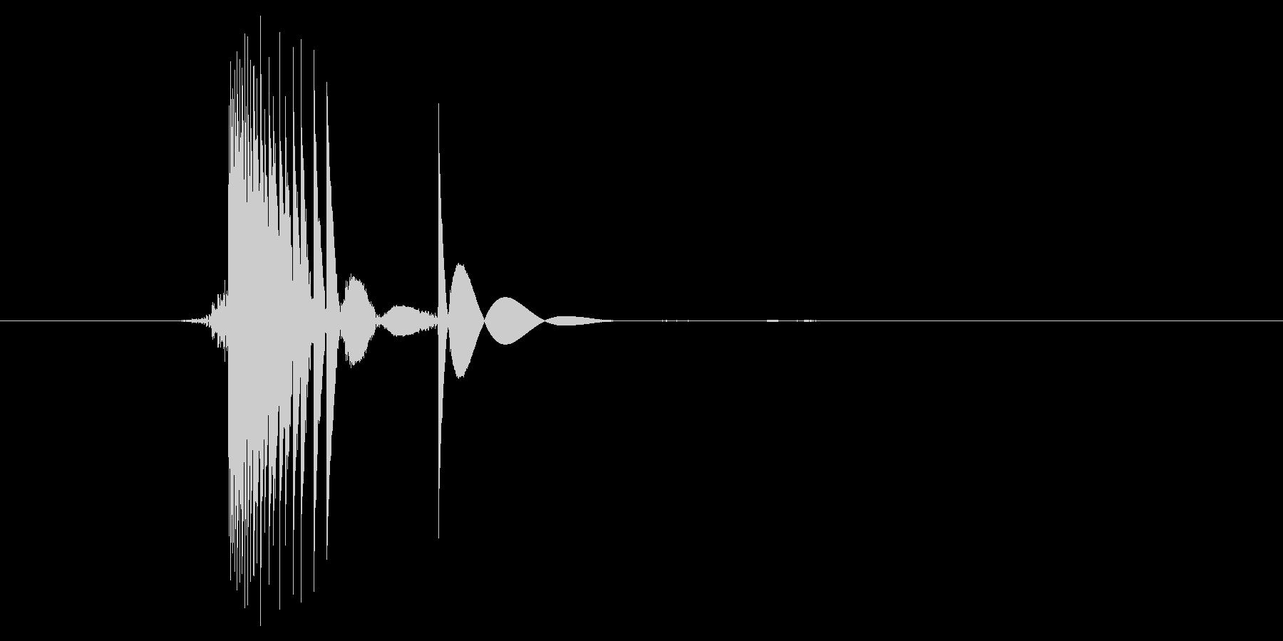 ゲーム(ファミコン風)ヒット音_029の未再生の波形