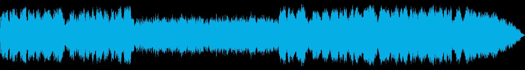 即興的な笛のヒーリング音楽の再生済みの波形