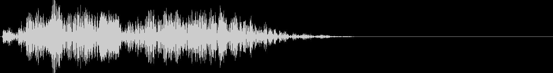 コロコロと鳴る不気味な音の未再生の波形