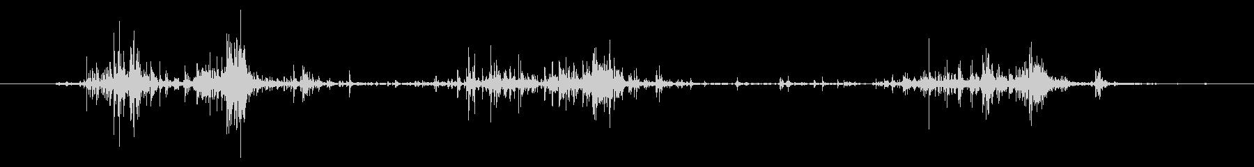 タブレッド菓子を出す音3 ステレオの未再生の波形