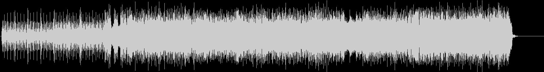 シャッフルするラフなブルース・ロックの未再生の波形