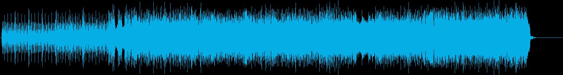 シャッフルするラフなブルース・ロックの再生済みの波形