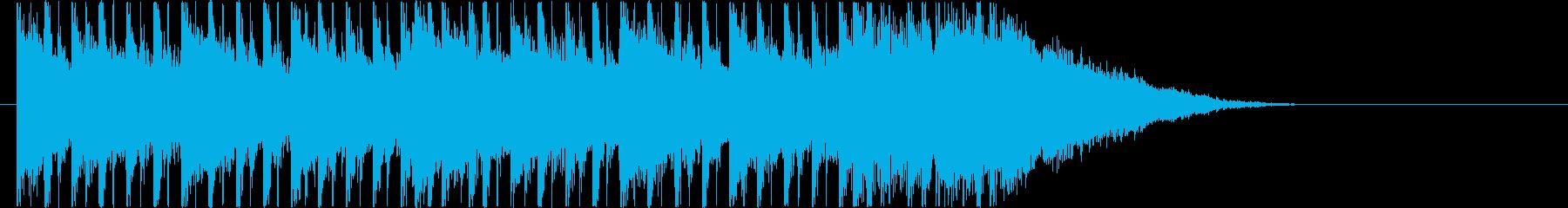 リズミカルでスピーディーなシンセロックの再生済みの波形