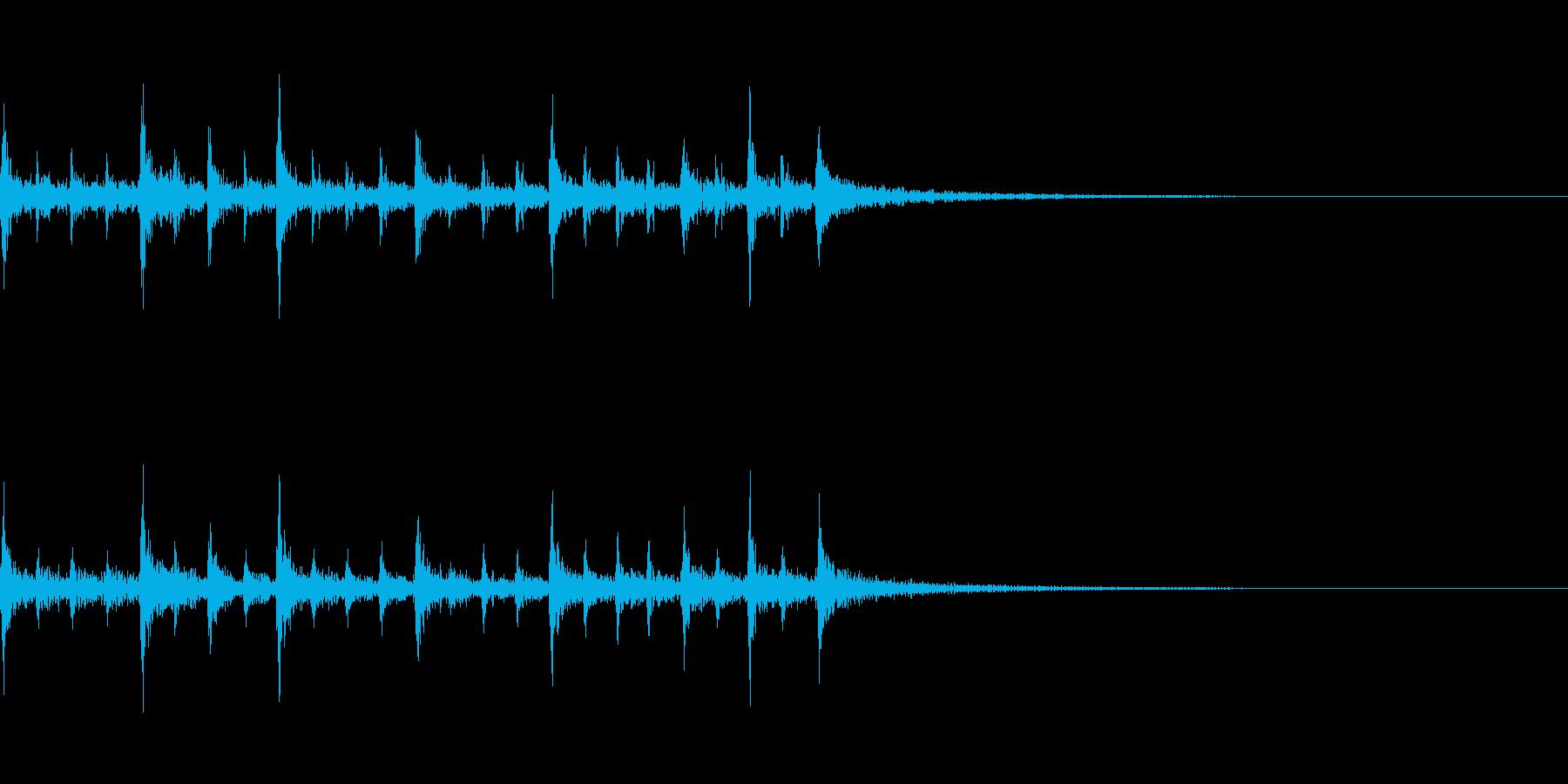 ティンパニのリズム、(手で)「古代...の再生済みの波形