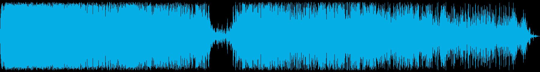 ジュワワワ(何かを高温で炒めるような音)の再生済みの波形