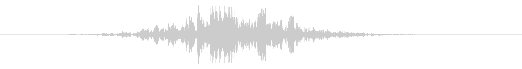 スーヒューン:左から右に高速で通過する音の未再生の波形