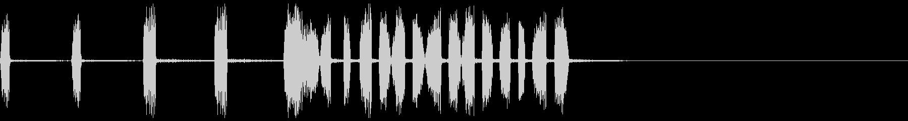 スクラッチ音の未再生の波形