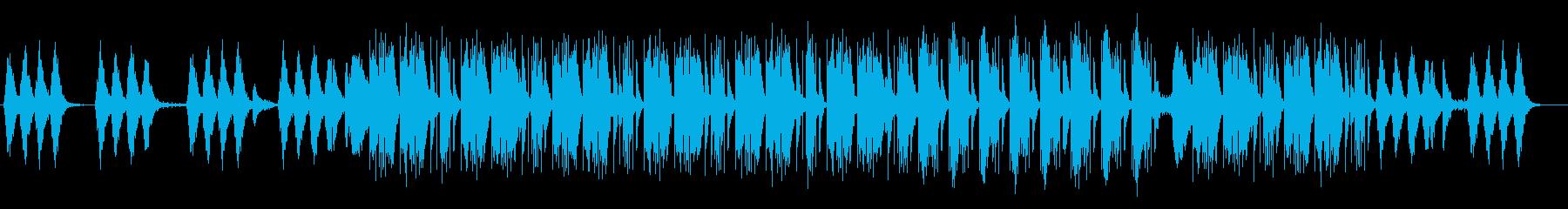 涼しげで怪しげなサウンドの再生済みの波形