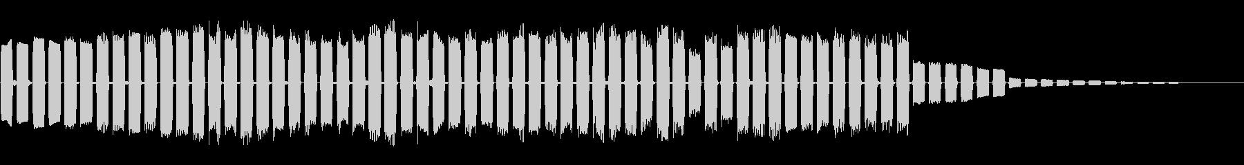 オーバードライブアルペジオアクセントの未再生の波形