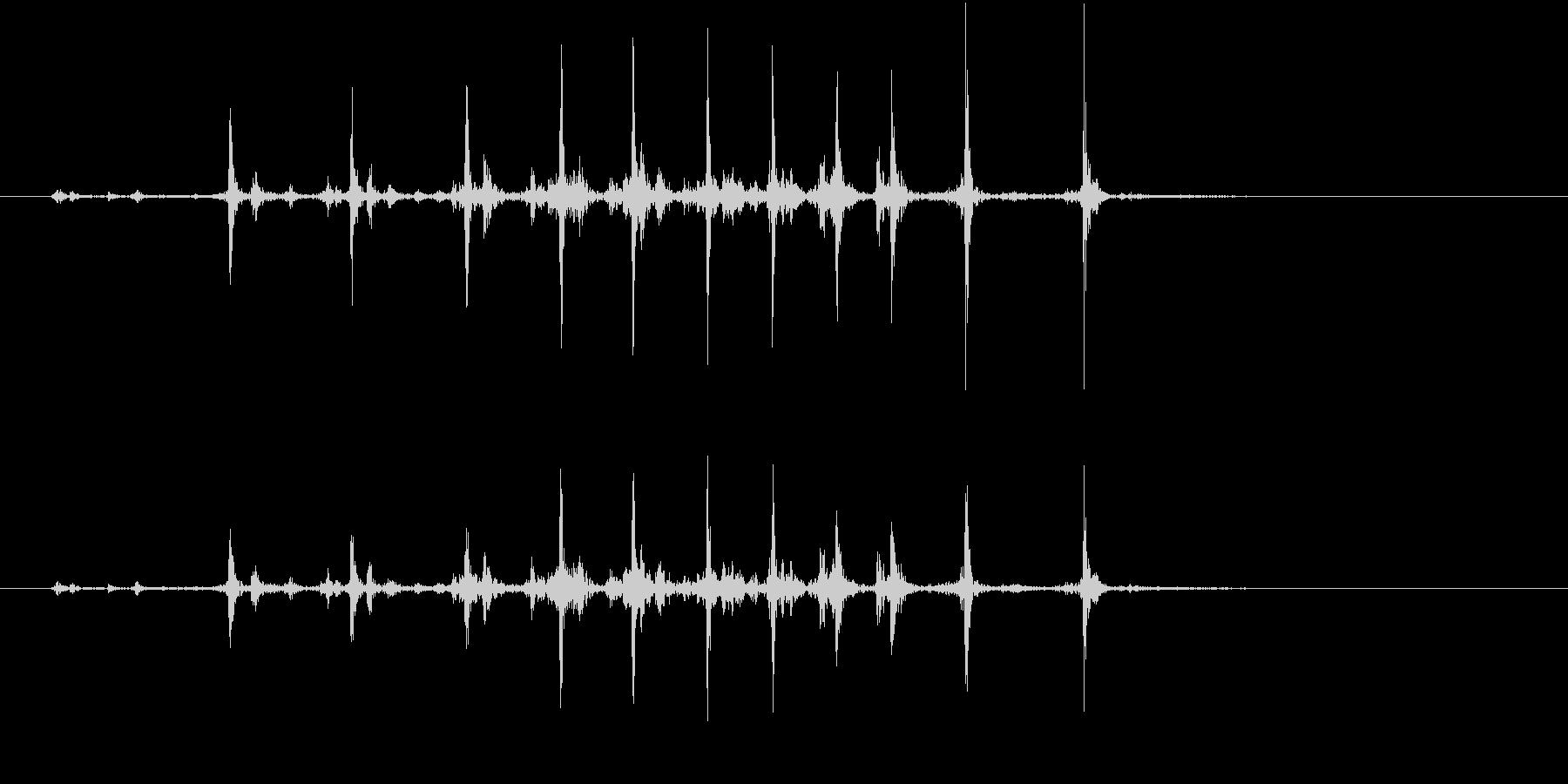 【生録音】カッターナイフの音 22の未再生の波形