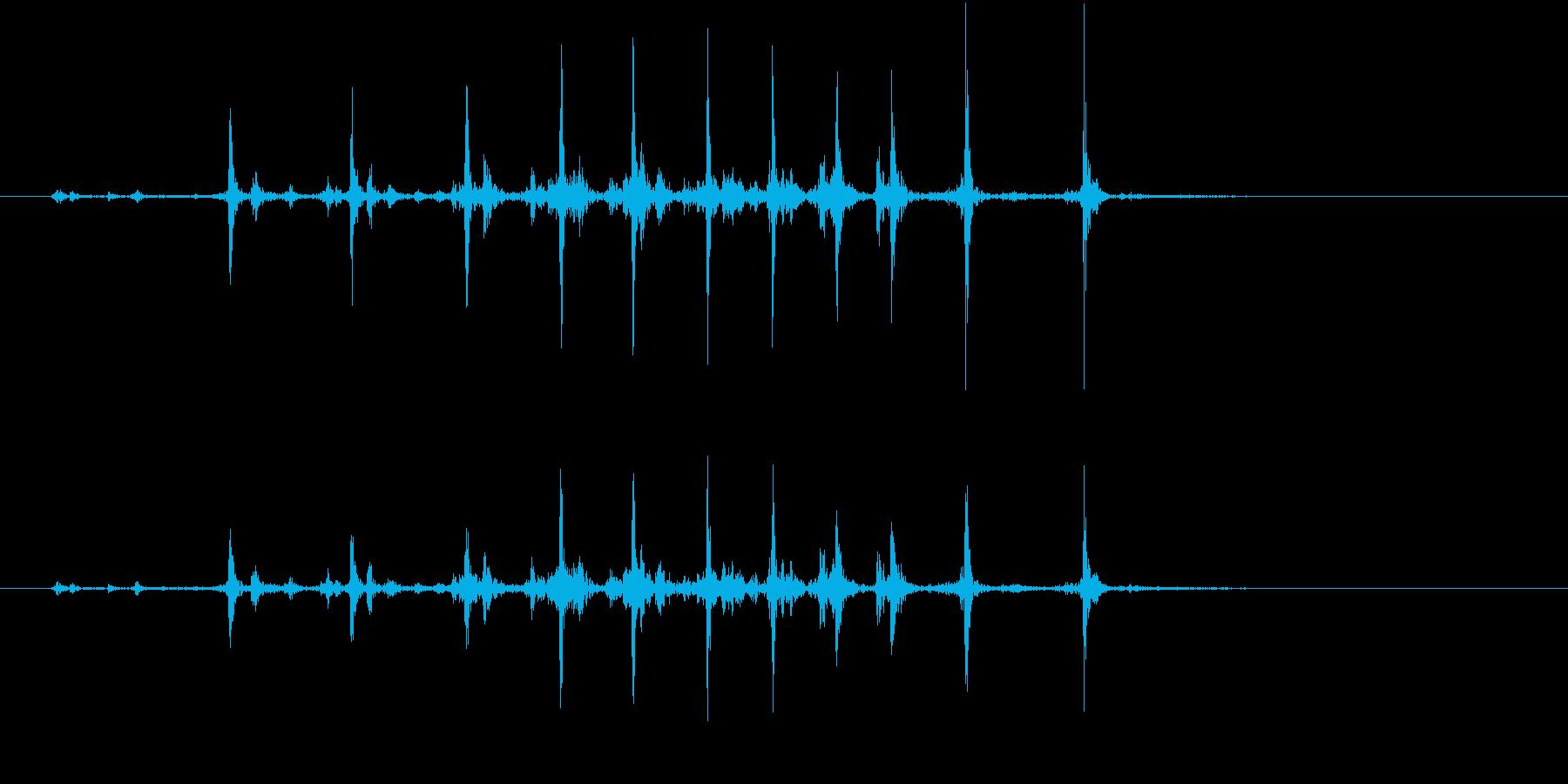 【生録音】カッターナイフの音 22の再生済みの波形