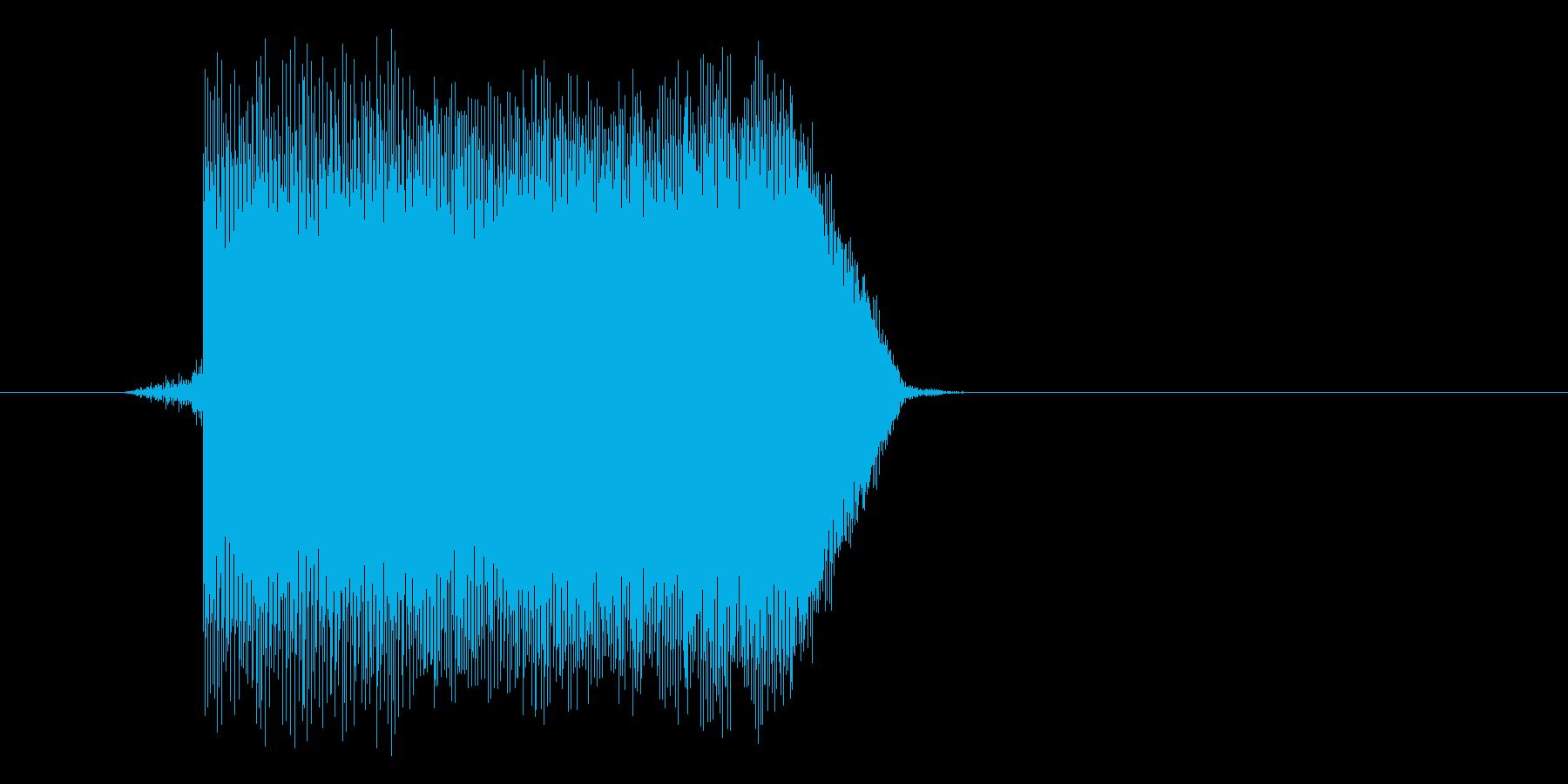 ゲーム(ファミコン風)ジャンプ音_044の再生済みの波形