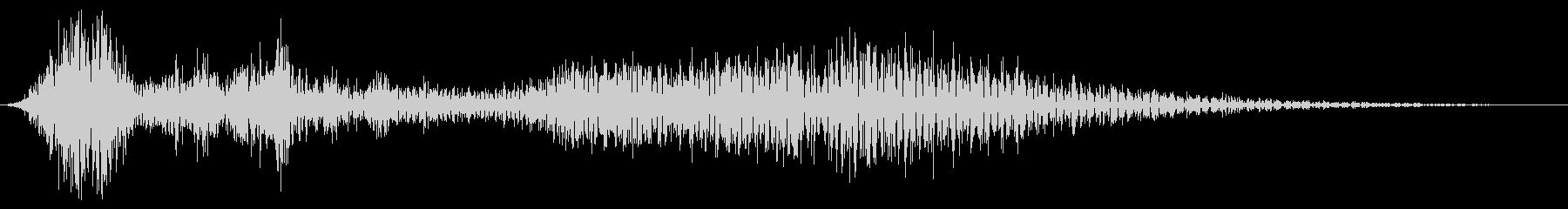 細いスワイプ6の未再生の波形
