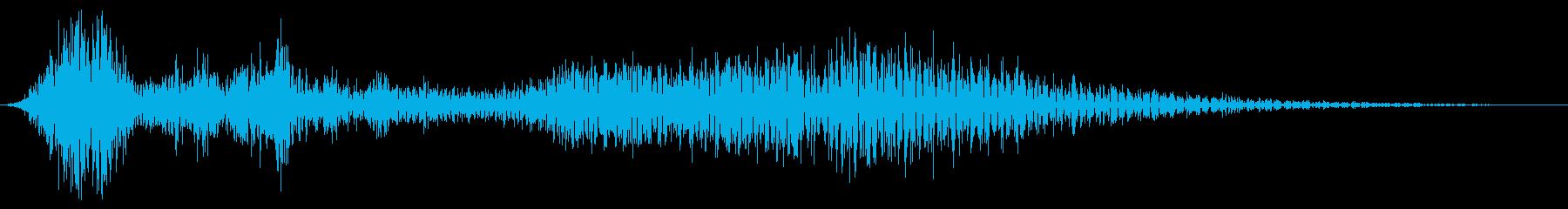 細いスワイプ6の再生済みの波形