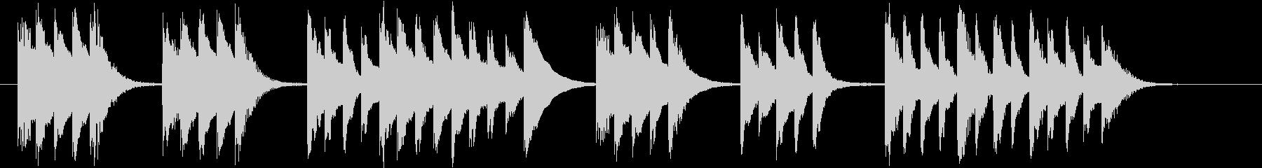 木琴がメインのほのぼのとしたジングルの未再生の波形