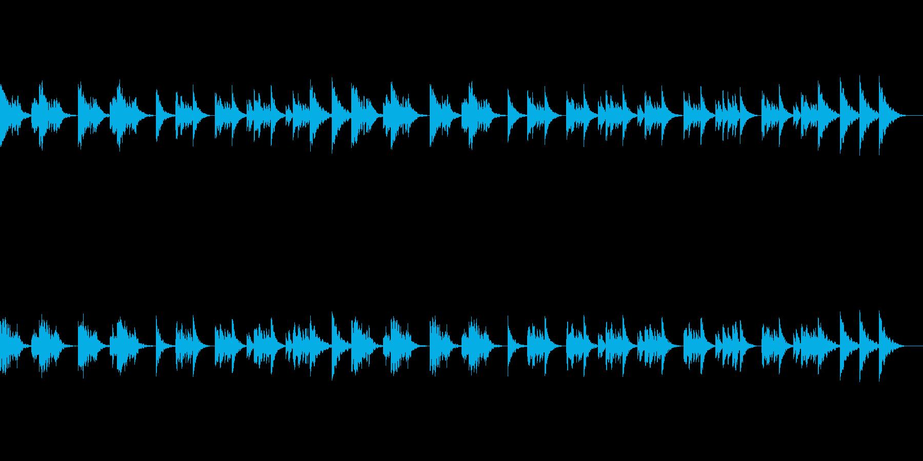 静かなポップスメロディのオルゴールBGMの再生済みの波形