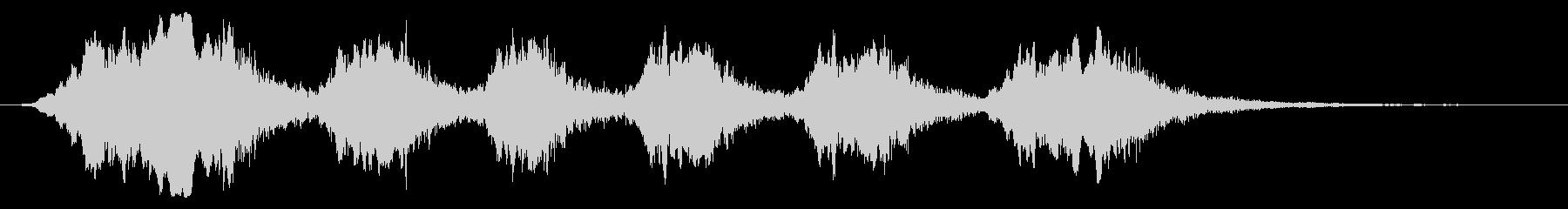 大きな孔雀:呼び出しの未再生の波形