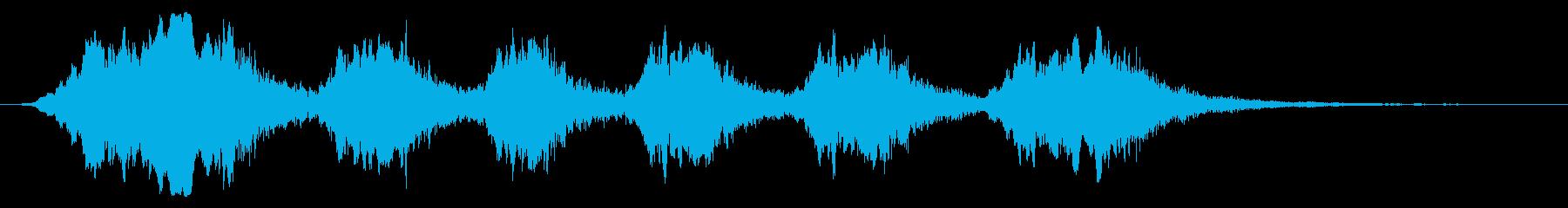大きな孔雀:呼び出しの再生済みの波形