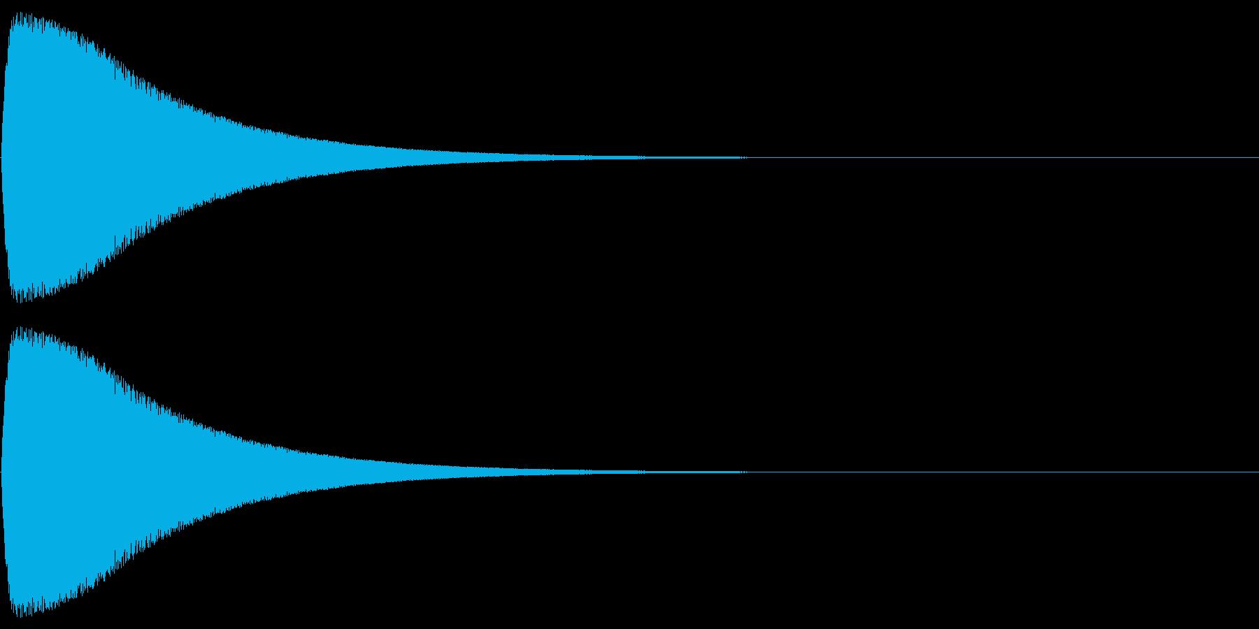 ピュイーンの再生済みの波形
