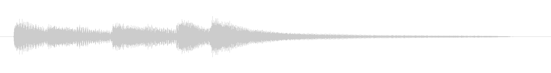 明るめのピアノのジングルの未再生の波形