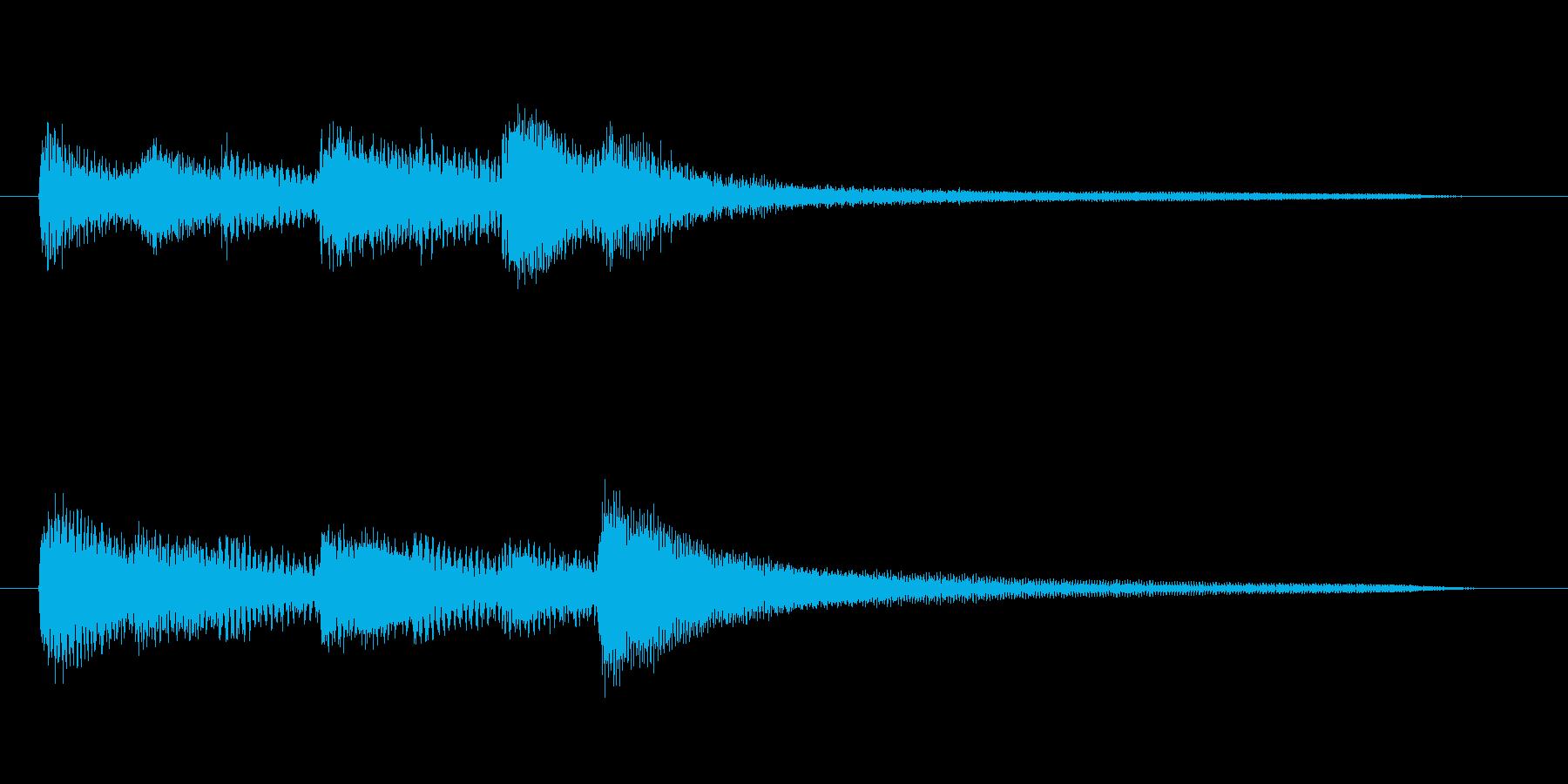 明るめのピアノのジングルの再生済みの波形