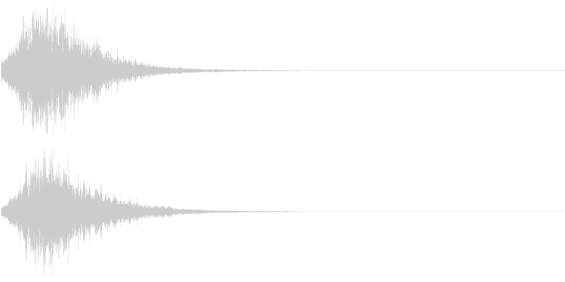 ゲームスタート、決定、ボタン音-082の未再生の波形