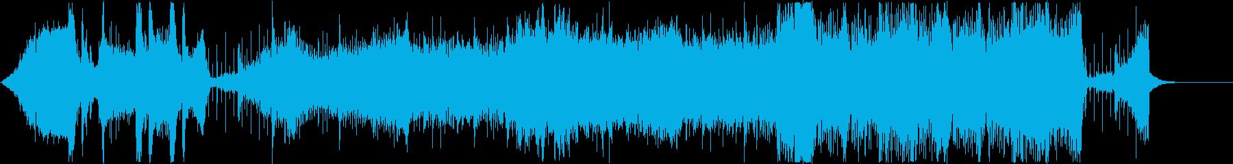 クールで疾走感のあるテクスチャ系BGMの再生済みの波形
