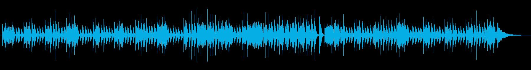 子猫がぴょんぴょん遊ぶ軽快なピアノソロ曲の再生済みの波形