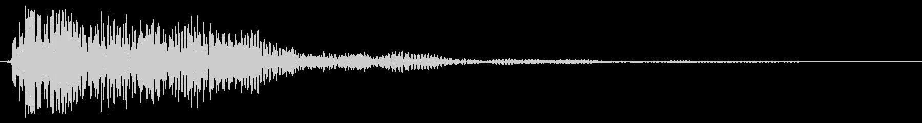 バン!(物を置く叩くシンプルな効果音)の未再生の波形