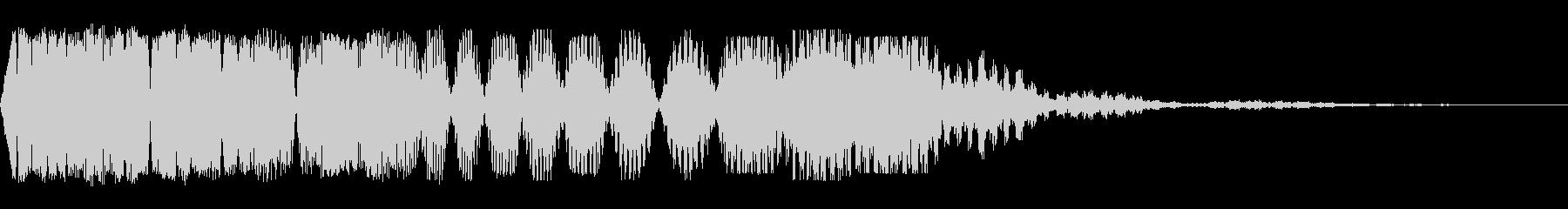 減速スワイプ1の未再生の波形
