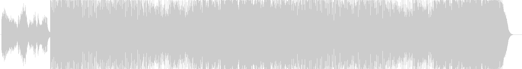 物の怪さんが暴れまくる音楽の未再生の波形