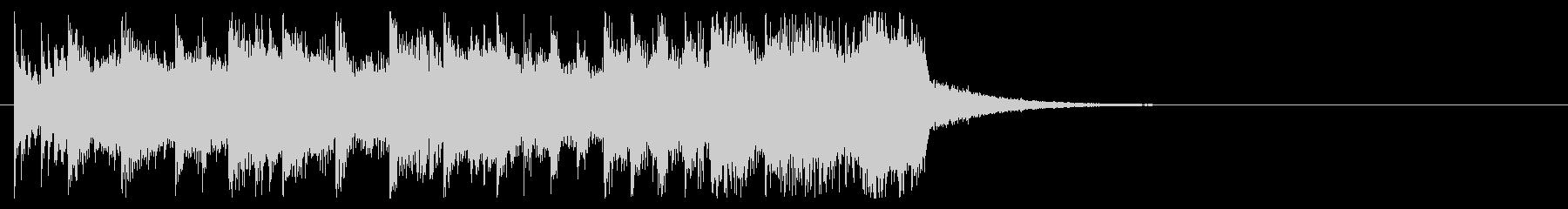 ポップ&キュートなエモいEDMジングル3の未再生の波形