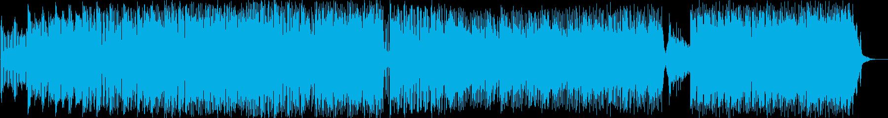 未来的なサウンドのベッドトラックの...の再生済みの波形