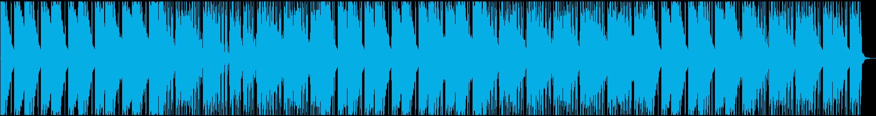 軽快なビートサウンドの再生済みの波形