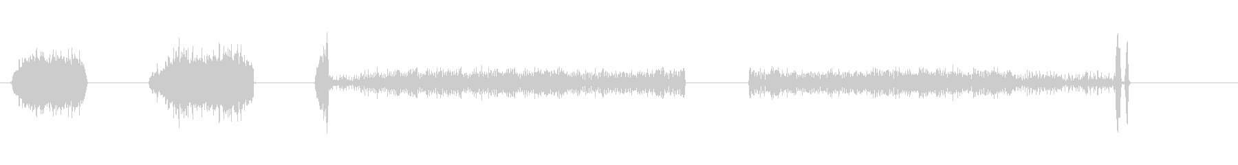 テープ、プロのレコーダーで音楽を巻き戻すの未再生の波形