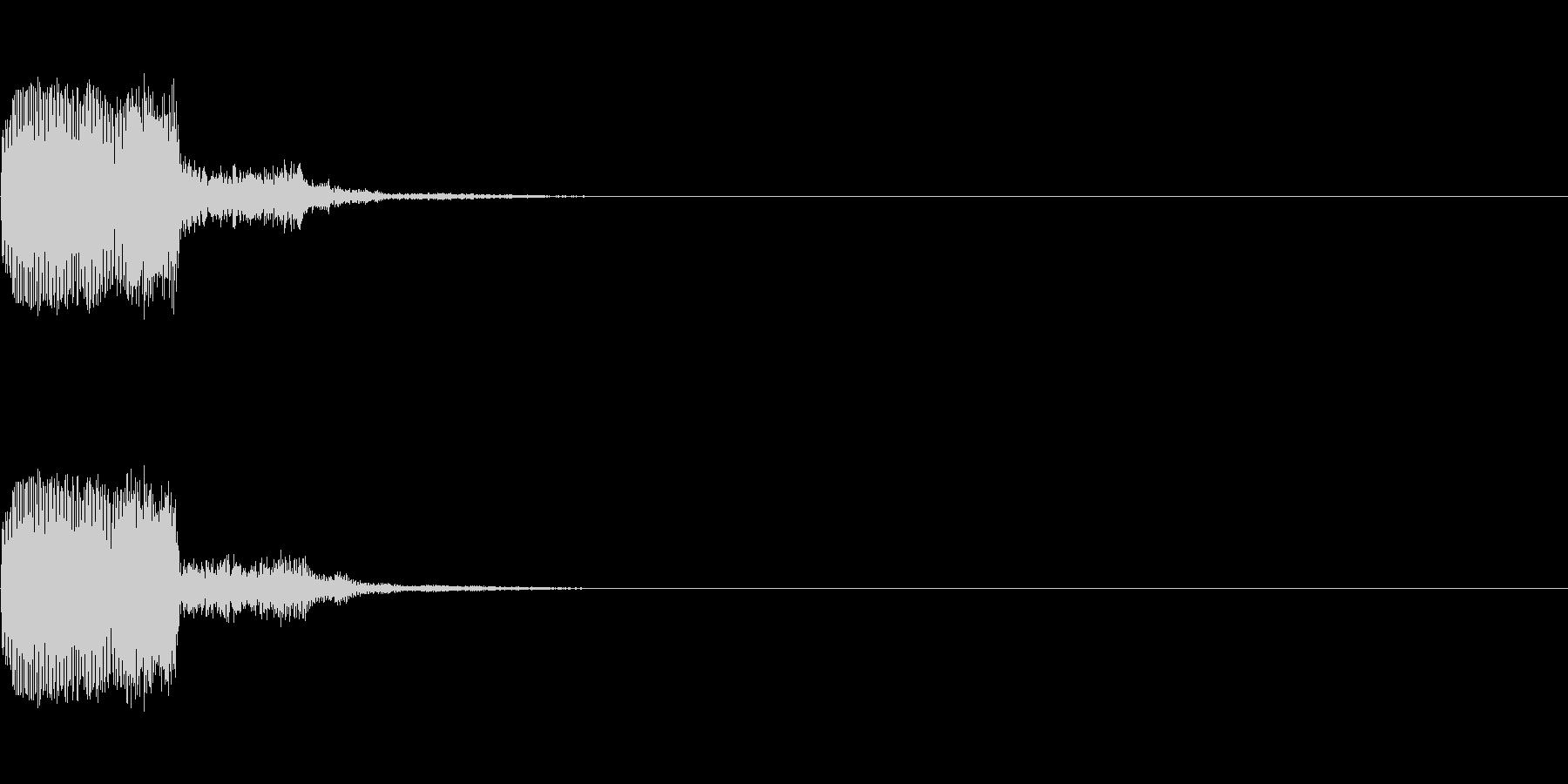 キュイン(ゲーム・アプリ等のセレクト音)の未再生の波形