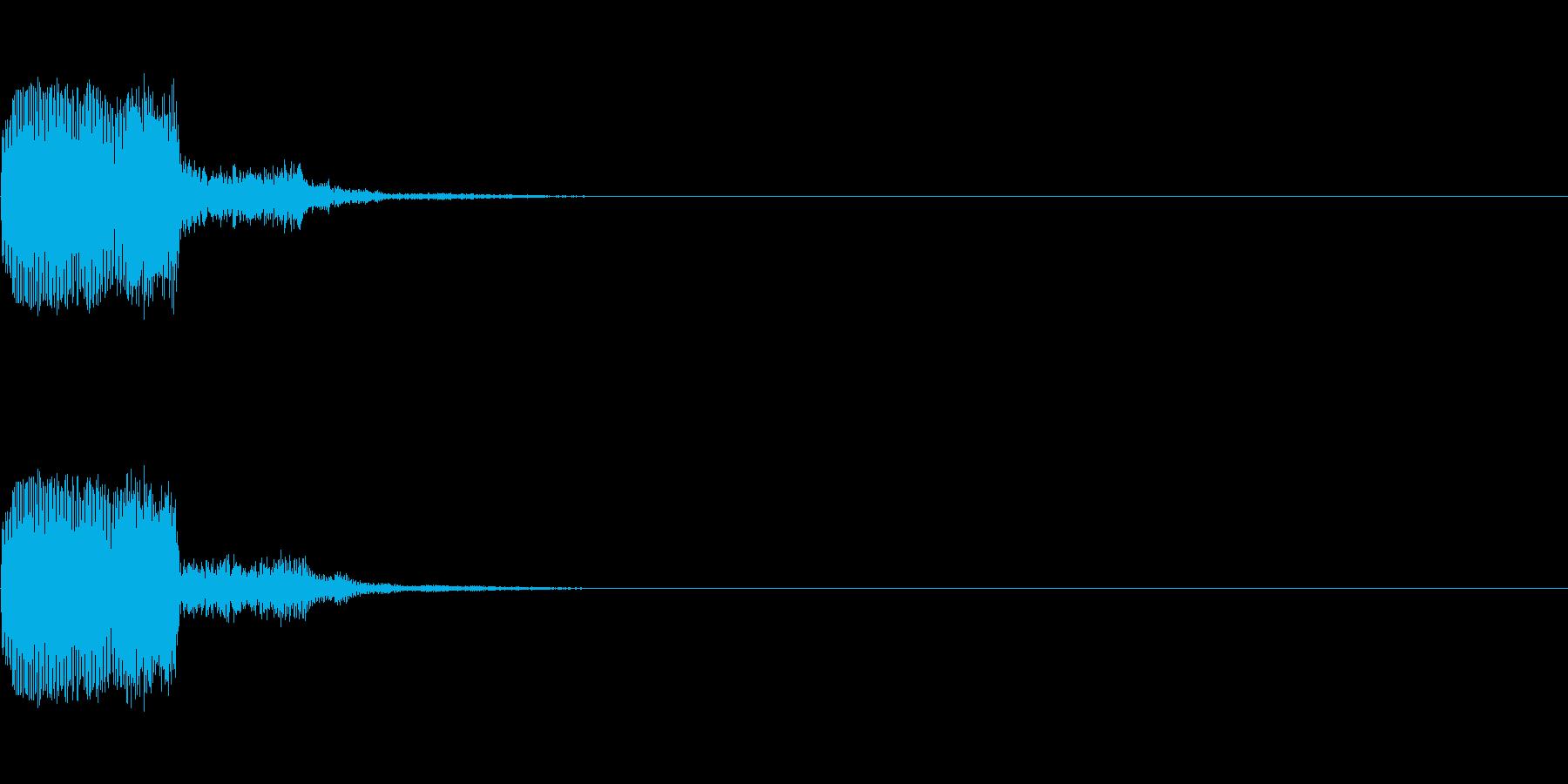 キュイン(ゲーム・アプリ等のセレクト音)の再生済みの波形