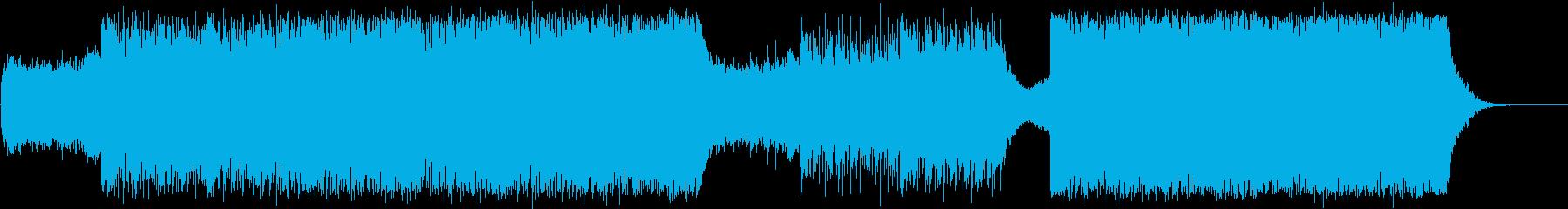 歌声が印象的な緊迫感あるテクスチャーの再生済みの波形