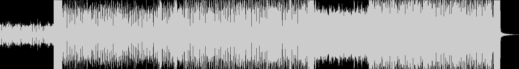 キラキラした雰囲気のエレクトロニカBGMの未再生の波形