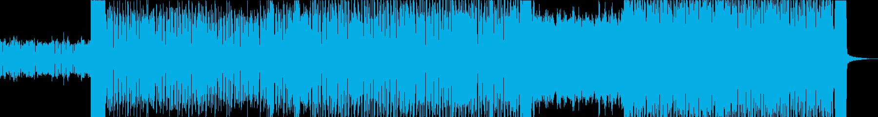 キラキラした雰囲気のエレクトロニカBGMの再生済みの波形