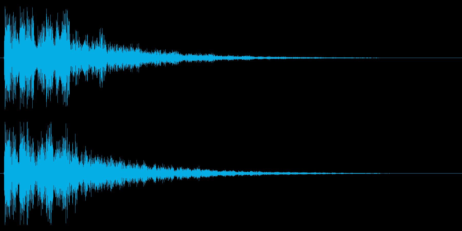 ファンタジックなスタート音 クリック音の再生済みの波形