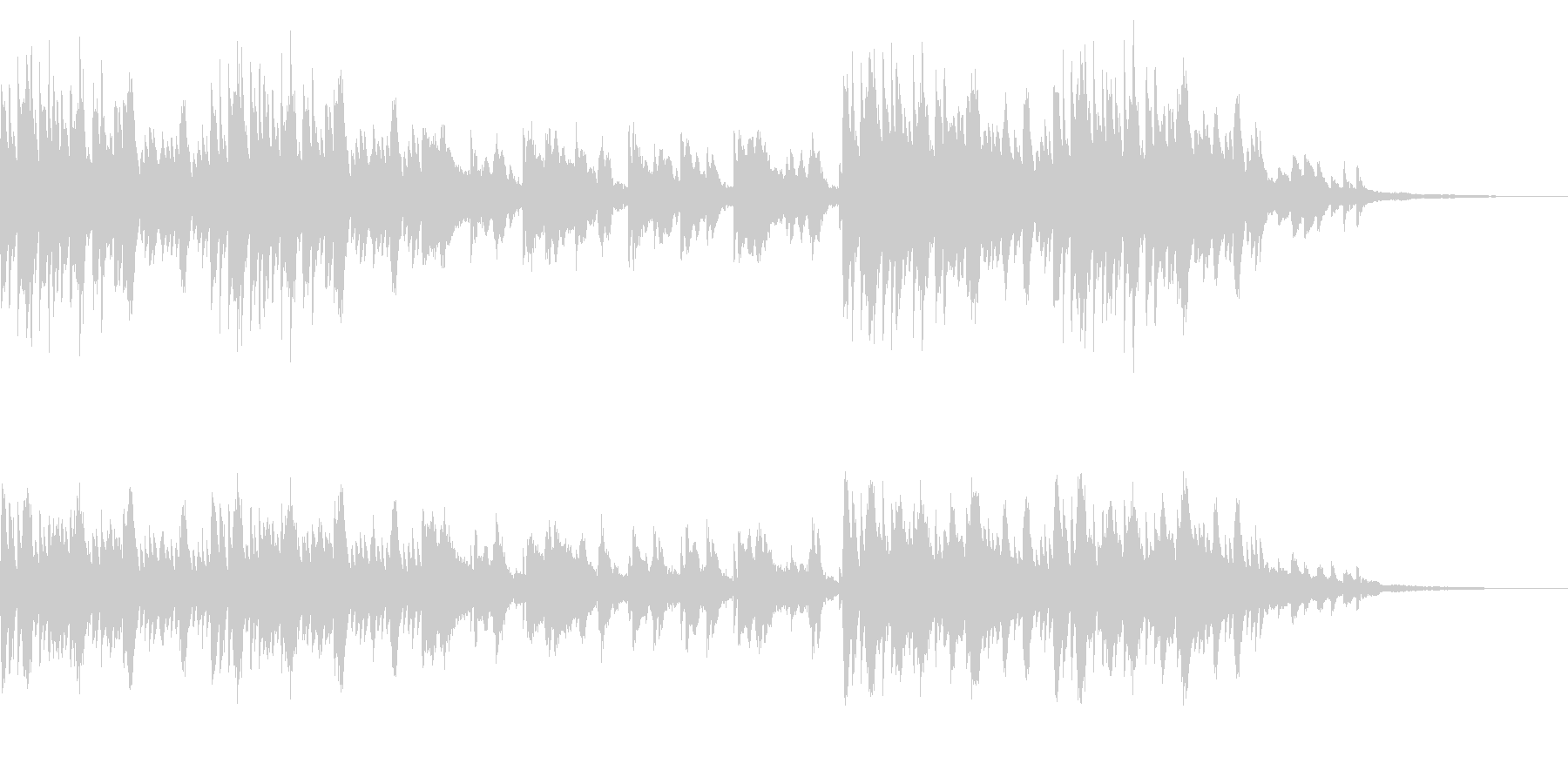 SNS広告 ピアノメイン スタイリッシュの未再生の波形