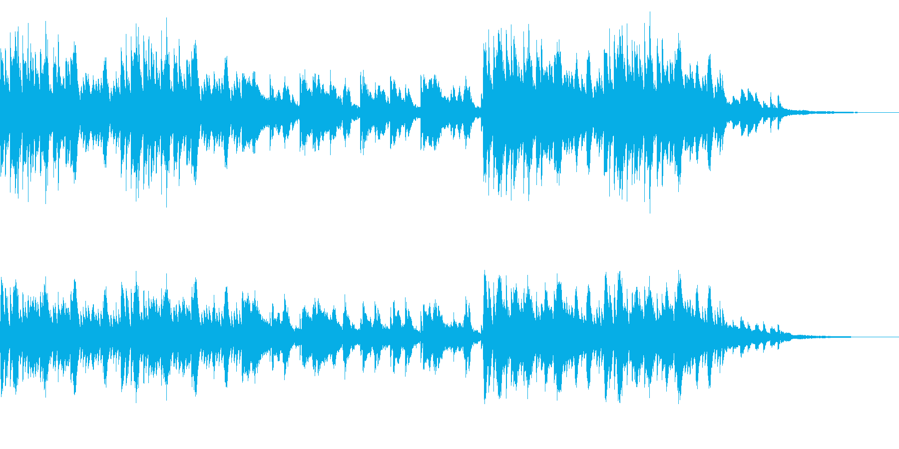 SNS広告 ピアノメイン スタイリッシュの再生済みの波形