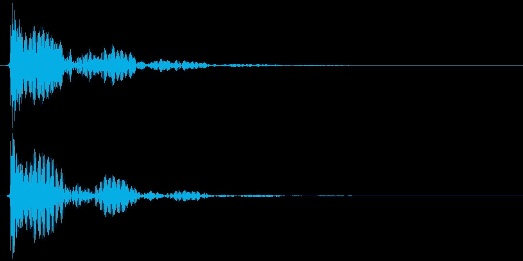 テレビ/ブラウン管 点灯カッ、ブオオン③の再生済みの波形