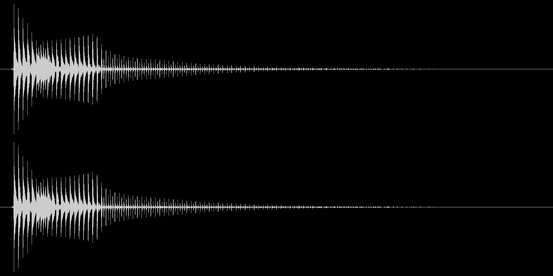 コミカルなジャンプ音 ボイン ビョン2の未再生の波形
